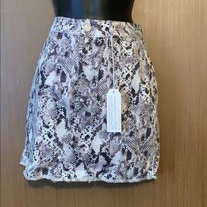 Snake skin style mini skirt